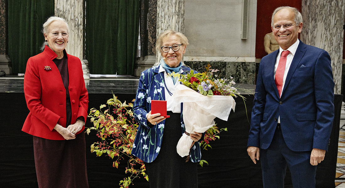 HM The Queen, Professor Gerd Grubb and Professor Mogens Høgh Jensen