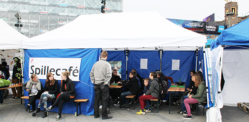 Gaming Café in the Town Hall Square